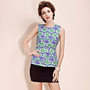 TS Baroque Style Grid Print Sleeveless Blouse Shirt (More Colors)