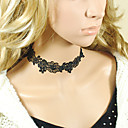 Handmade Black Lace Floral Pattern Simple Style Classic Necklace