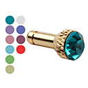 Anti-Dust Earphone Jack Plug for iPad and iPhone (Assorted Colors)