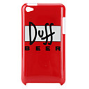 Simple Style Pattern Hard Case for iPod Touch 4 (Red)