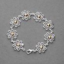 Fashion Silver Plated Gold Chrysanthemum Women's Bracelet