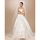 Two-tier Tulle Cut Edge Chapel Wedding Veil