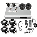 Ultra-Low-Preis 4-Kanal CCTV DVR-Kit (H. 264, 2 Outdoor Wasserdicht & 2 Indoor-IR-Kameras)