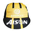 KOOPLUS-Men's 100% Polyester Cycling Cap (Yellow)