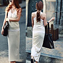 Solid Color Casual Suits Vest and Dress
