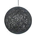 60W Modern Black Pendant Light with 1 Light in Globe Design