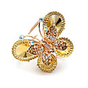 Gorgeous Alloy With Rhinestones Butterfly Barrette