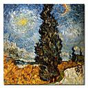 "Hand-painted Famous Oil Painting with Stretched Frame 24"" x 24"" by Van Gogh"