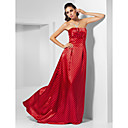 A-line Strapless Sweep/ Brush Train Charmeuse Evening Dress inspired by Natalie Portman at Oscar