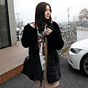 Long Sleeve Turndown Collar Casual Faux Fur Coat(More Colors)