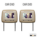 7 Inch LCD Screen Headrest DVD Player with Built-in Speaker,CD,DVD,Game (1 Pair)