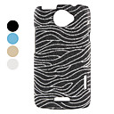 Glitter Zebra Strips Hard Case for HTC ONE X (Assorted Colors)