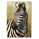 Printed Animal Zebra Canvas Art with Stretched Frame
