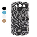 Glitter Zebra Strips Pattern Hard Case for Samsung Galaxy S3 I9300 (Assorted Colors)