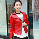 Long Sleeve Turndown Collar Party/ Career Lambskin Leather Jacket (More Colors)