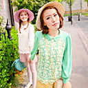 Lace 3/4 Sleeve Chiffon Shirt