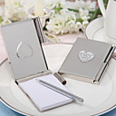 """Love Note"" Silver Toned Luxury Memo Pad and Pen"
