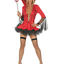 Hot Sexy Devil Red Women Dress Halloween Costume(3pieces)