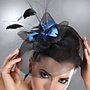 Unique Net With Feather Women's Fascinators