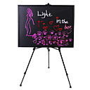 4.4W Black LED Lighted Writable Menu Board Multi-colored Marker Included (28 Light Modes / Easel not Included)
