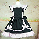 Sleeveless Knielanger Black Cotton White Lace Shiro & Kuro Lolita Kleid