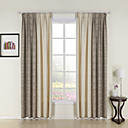 (Two Panels) Modern Jacquard Energy Saving Curtains
