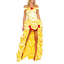 Adulte Femme Sexy Deluxe Beauté Fairytale Princess Costume jaune (1Pieces)