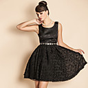 TS VINTAGE Luxurious Jaquard Bow At Shoulder Princess Dress