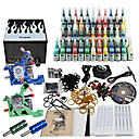 2 Tatoo Guns Kit with LCD Power Supply and 54 Color Ink
