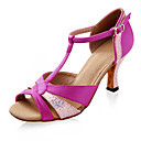 Satin/Sparkling Glitter Upper Latin Dance Shoes Ballroom Shoes for Women More Colors