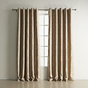 (Two Panels) Classic Geometic Jacquard Room Darkening Curtains