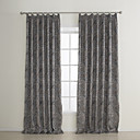 (Two Panels) Modern Geometic Jacquard Room Darkening Curtains