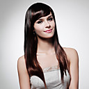 Capless Extra Long Top Grade Quality Synthetic Dark Brown Straight Hair Wig