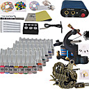 2 Cast Iron Tatoo Machine Kit for Lining and Shading(54 Colors)