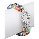 Charmant Multicolor Lampwork Ovaal Women 'Watch