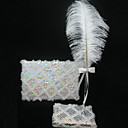 Beautiful Wedding Guestbook And Pen Set With Sequin