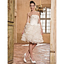 A-line Strapless Organza Wedding Dress