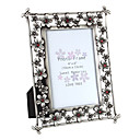 "6"" 7"" Floral Theme Picture Frame in Metal"
