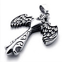 Men's Angel Wing Pendant(Free Chain)(5.2*3.1*.5CM)