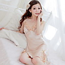 Lady Lace Silk Nightwear Dress(Length:80cm,Bust:64-90cm)