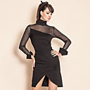 TS Perspective Mesh Long Sleeve Sheath Dress