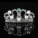 Amazing Alloy With Rhinestone / Imitation Pearl Flower Girl Tiaras