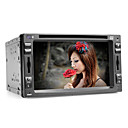 6.2 polegadas 2 Din Touch Screen Car DVD Player com Bluetooth, GPS, iPod, RDS, SD / USB, controle de volante