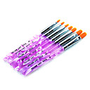 7pcs Acrylic Brush Nylon Nail Art Tools Set