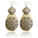 Charming Alloy Flower Design Drop Earrings