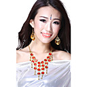 Performance Dancewear Alloy with Red Gem and Crystal Belly Dance Necklace For Ladies