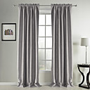 (Two Panels) Classic Suede Solid  Blackout Curtains
