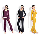 Yoga Casual Sportswear Suits 2 Sätze (Langarm Yoga T-Shirt + Yoga Pants)
