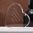 Personalized Heart Shaped Crystal Favor