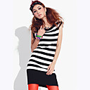 Women's Slim Stripes Long Knit Sweater